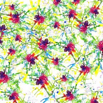 TELA ACUARELA | Tela diseñada con acuarelas originales de Pespunteando.  Disponible en: Popelín vestidos, popelín strech, popelín ligero, sarga gabardina, sarga lycra, sarga, lino, lino ( 56% 44 / lino 44% algodón ), crepe de seda china, lona, camiseta, muselina, lona  y gasa.