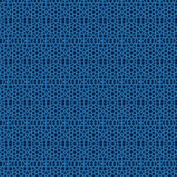 TELA ALHAMBRA AZUL | Tela diseñada a partir de ilustraciones originales de Pespunteando  Disponible en: Popelín vestidos, popelín strech, popelín ligero, sarga gabardina, sarga lycra, sarga, lino, lino ( 56% 44 / lino 44% algodón ), crepe de seda china, lona, camiseta, muselina, lona  y gasa
