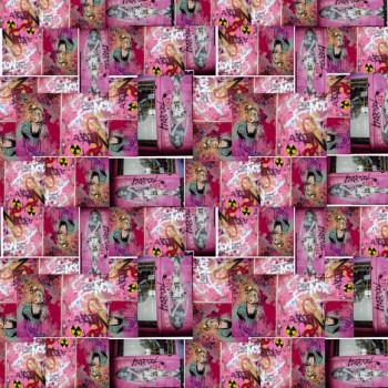 TELA BARBIE | Tela diseñada a partir de fotografías originales de Pespunteando  Disponible en: Popelín vestidos, popelín strech, popelín ligero, sarga gabardina, sarga lycra, sarga, lino, lino ( 56% 44 / lino 44% algodón ), crepe de seda china, lona, camiseta, muselina, lona  y gasa.