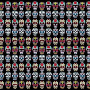 TELA CATRINAS | Tela diseñada a partir de ilustraciones originales de Pespunteando.  Disponible en: Popelín vestidos, popelín strech, popelín ligero, sarga gabardina, sarga lycra, sarga, lino, lino ( 56% 44 / lino 44% algodón ), crepe de seda china, lona, camiseta, muselina, lona  y gasa.