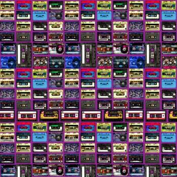 TELA CASSETTE |   Tela diseñada a partir de ilustraciones originales de Pespunteando. Disponible en: Popelín vestidos, popelín strech, popelín ligero, sarga gabardina, sarga lycra, sarga, lino, lino ( 56% 44 / lino 44% algodón ), crepe de seda china, lona, camiseta, muselina, lona  y gasa.