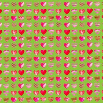 TELA CORAZONES DE ACUARELA |  Tela diseñada a partir de ilustraciones originales de Pespunteando.  Disponible en: Popelín vestidos, popelín strech, popelín ligero, sarga gabardina, sarga lycra, sarga, lino, lino ( 56% 44 / lino 44% algodón ), crepe de seda china, lona, camiseta, muselina, lona  y gasa.