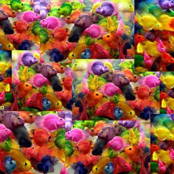TELA PECES | Tela con diseño exclusivo de Pespunteando  Disponible en: Popelín vestidos, popelín strech, popelín ligero, sarga gabardina, sarga lycra, sarga, lino, lino ( 56% 44 / lino 44% algodón ), crepe de seda china, lona, camiseta, muselina, lona  y gasa.